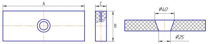 Типоразмеры плитки камнелитой