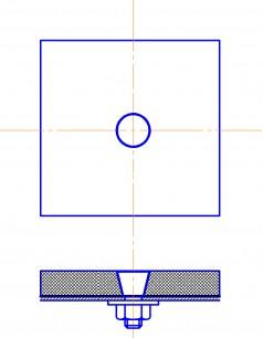Монтаж камнелитых плит на болт с резиновой прокладкой