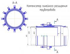 Компенсаторы линейного расширения футерованные каменным литьем