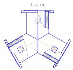Тройник изготовленный методом отливки в металлическую опалубку