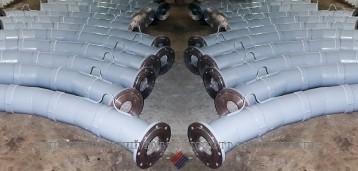 Отводы футерованные каменным литьем