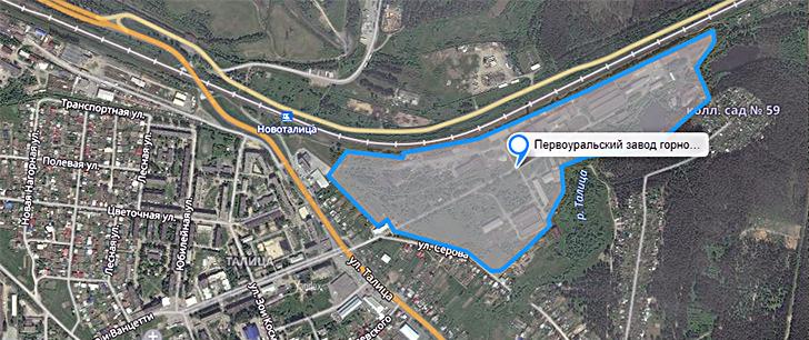 Схема проезда на Первоуральский завод горного оборудования