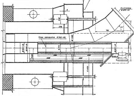 Футеровка камнелитыми изделиями пылеугольной горелки котла П-57