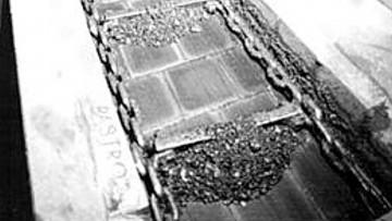 Футеровка тракта скребкового конвейера камнелитой плиткой
