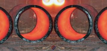 Камнелитые трубы в отжиговой печи