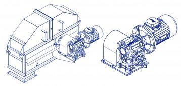 Привод элеватора ковшового с мотор-редуктором